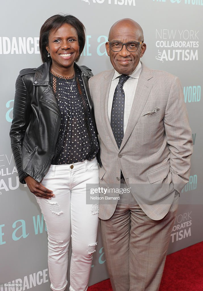Al Roker (R) and wife Deborah Roberts attend the 'The A Word' New York screening at Museum Of Arts And Design on June 28, 2016 in New York City.