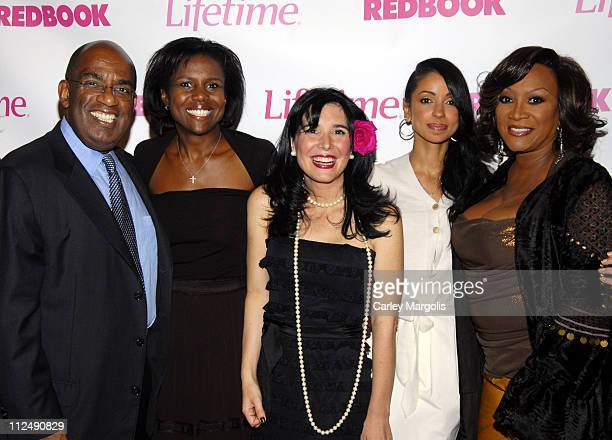 Al Roker Deborah Roberts Geralyn Lucas author of 'Why I Wore Lipstick to my Mastectomy' Mya and Patti LaBelle