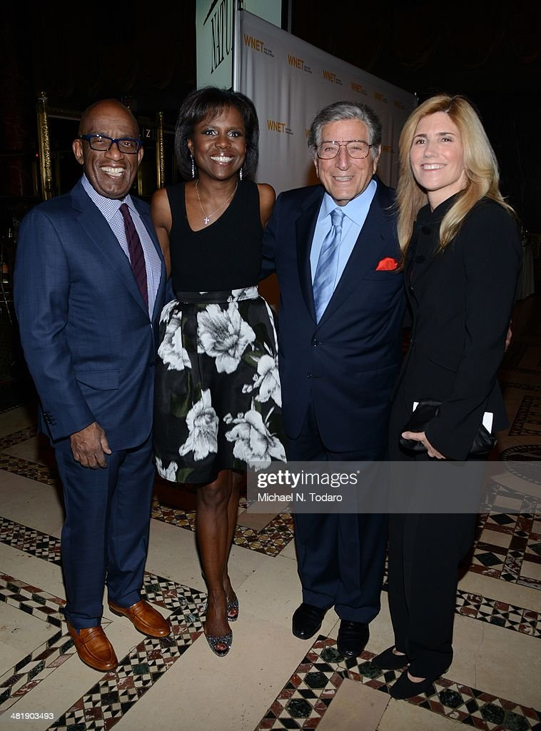 <a gi-track='captionPersonalityLinkClicked' href=/galleries/search?phrase=Al+Roker&family=editorial&specificpeople=206153 ng-click='$event.stopPropagation()'>Al Roker</a>, <a gi-track='captionPersonalityLinkClicked' href=/galleries/search?phrase=Deborah+Roberts&family=editorial&specificpeople=214075 ng-click='$event.stopPropagation()'>Deborah Roberts</a>, <a gi-track='captionPersonalityLinkClicked' href=/galleries/search?phrase=Tony+Bennett+-+Singer&family=editorial&specificpeople=160951 ng-click='$event.stopPropagation()'>Tony Bennett</a> and <a gi-track='captionPersonalityLinkClicked' href=/galleries/search?phrase=Susan+Crow&family=editorial&specificpeople=581586 ng-click='$event.stopPropagation()'>Susan Crow</a> attend the WNET 2014 Gala at Cipriani 42nd Street on April 1, 2014 in New York City.