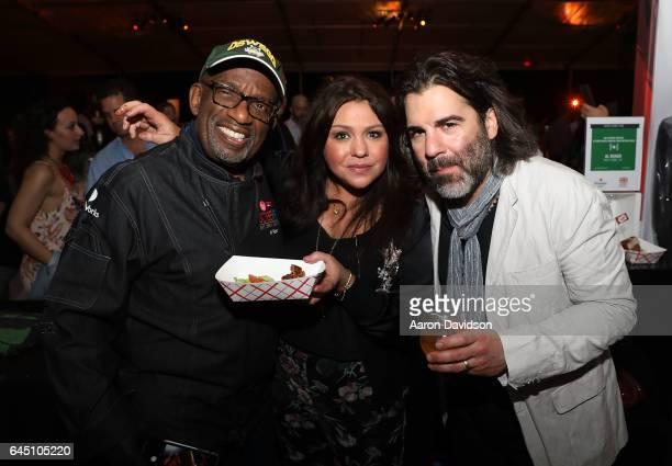 Al Roker Rachel Ray and John Cusimano attend South Beach Wine Food Festival's Heineken Light Burger Bash where Al Roker's booth served the Beyond...