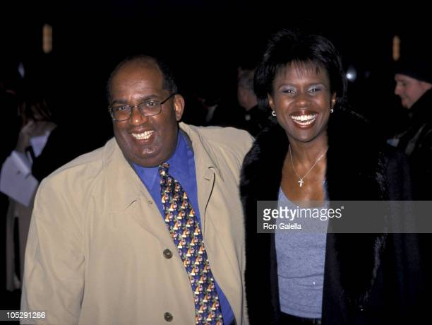 Al Roker Wife Deborah Roberts at the Premiere of 'Chocolat'
