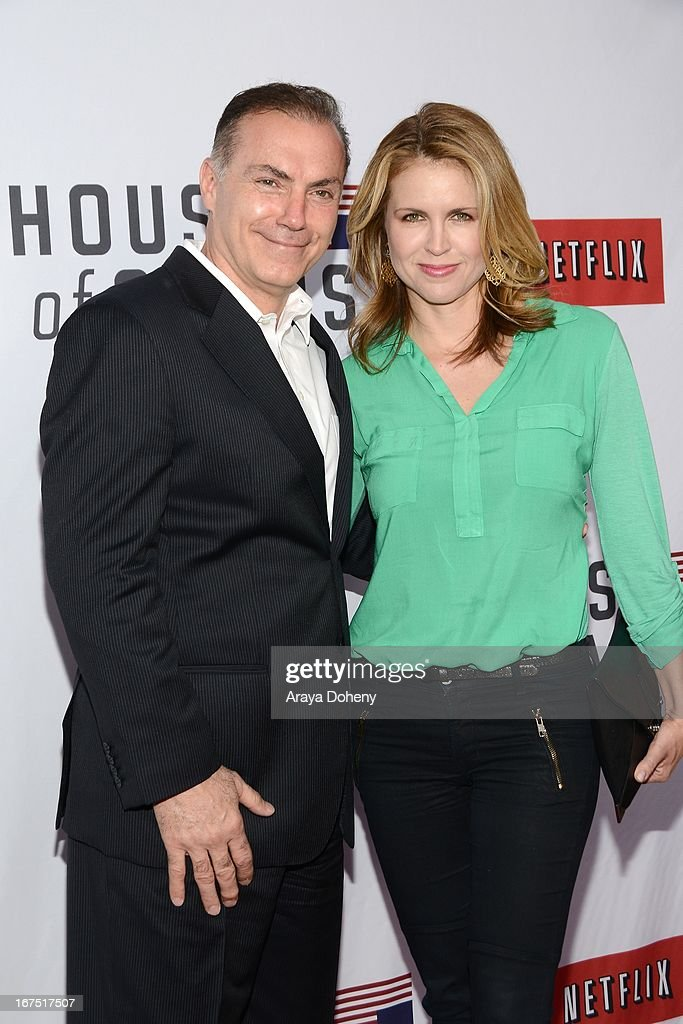 Al Sapienza and Laurie Fortier arrive at the Netflix's 'House Of Cards' for your consideration Q&A event at Leonard H. Goldenson Theatre on April 25, 2013 in North Hollywood, California.