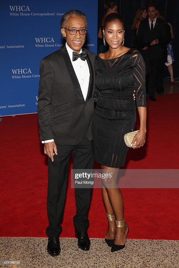 Al Sharpton and Aisha McShaw attend the101st Annual White House Correspondents' Association Dinner at the Washington Hilton on April 25, 2015 in Washington, DC.