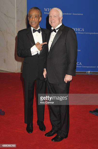 Al Sharpton and John McCain attend the 100th Annual White House Correspondents' Association Dinner at the Washington Hilton on May 3 2014 in...
