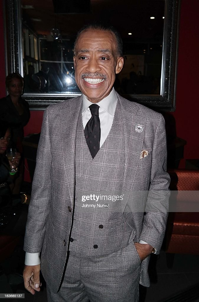 <a gi-track='captionPersonalityLinkClicked' href=/galleries/search?phrase=Al+Sharpton&family=editorial&specificpeople=202250 ng-click='$event.stopPropagation()'>Al Sharpton</a> attends Reverend <a gi-track='captionPersonalityLinkClicked' href=/galleries/search?phrase=Al+Sharpton&family=editorial&specificpeople=202250 ng-click='$event.stopPropagation()'>Al Sharpton</a> 'Rejected Stone: <a gi-track='captionPersonalityLinkClicked' href=/galleries/search?phrase=Al+Sharpton&family=editorial&specificpeople=202250 ng-click='$event.stopPropagation()'>Al Sharpton</a> And The Path To American Leadership' Book Reception at Stage 48 on October 8, 2013 in New York City.
