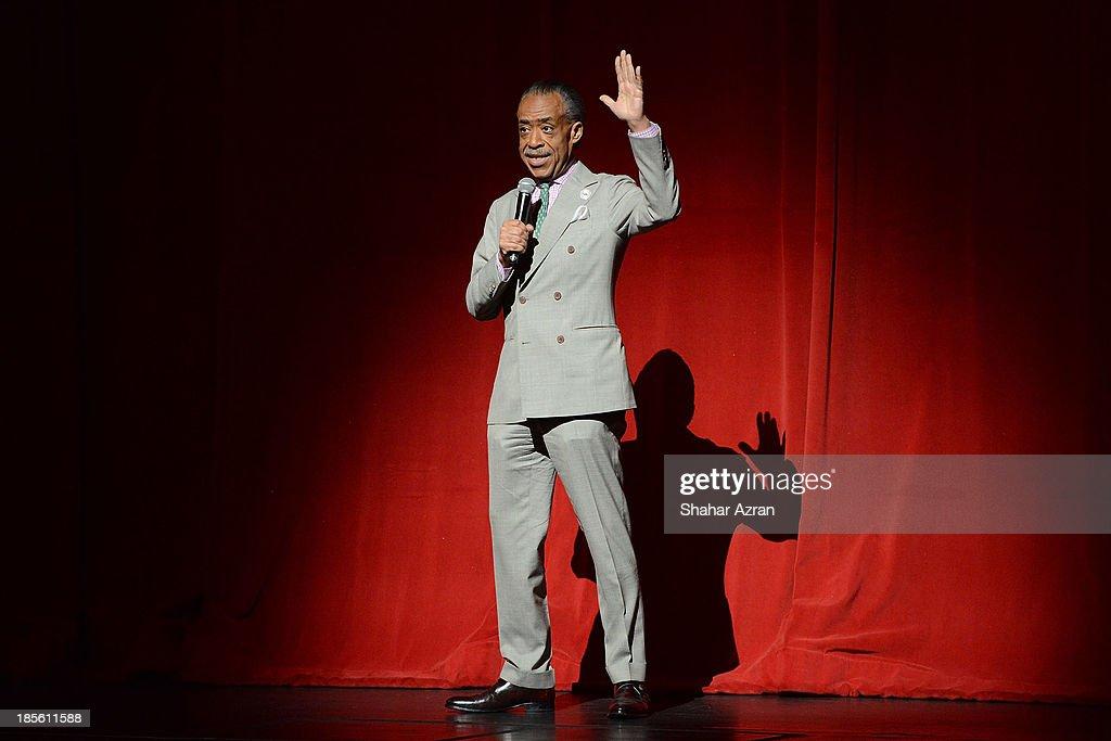 Al Sharpton opening night of 'James Brown: Get On The Good Foot - A Celebration in Dance' at The Apollo Theater on October 22, 2013 in New York City.