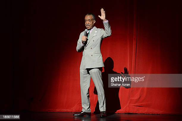 Al Sharpton opening night of 'James Brown Get On The Good Foot A Celebration in Dance' at The Apollo Theater on October 22 2013 in New York City