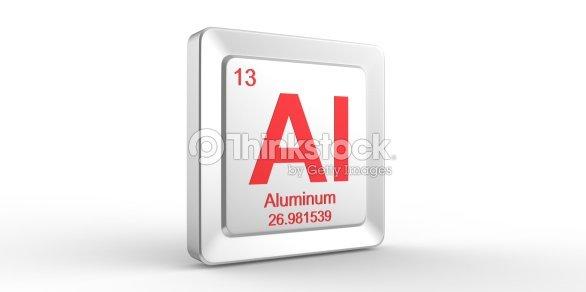 Al Symbol 13 Material For Aluminum Chemical Element Stock Photo