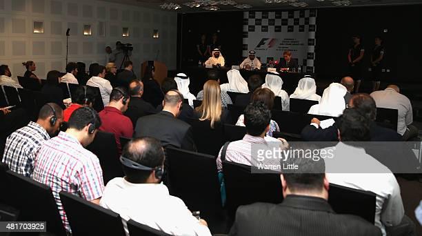 Al Tareq Al Ameri Chief Executive Officer Yas Maria Circuit Faisal Al Sheikh Director Events Bureau TCA Abu Dhabi and Andrew Ward Vice President...