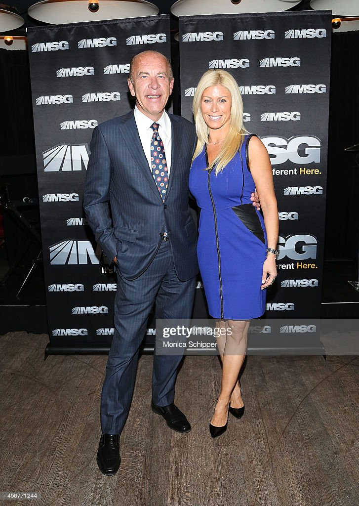 Al Trautwig and Jill Martin attend MSG Networks' 201415 Season Kickoff at Catch Roof on October 6 2014 in New York City