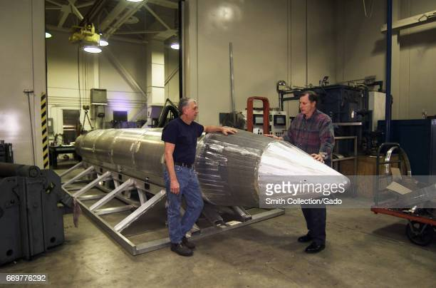 Al Weimorts creator of the GU43/B Massive Ordnance Air Blast bomb known colloquially as the Mother of All Bombs or MOAB with Joseph Fellenz lead...