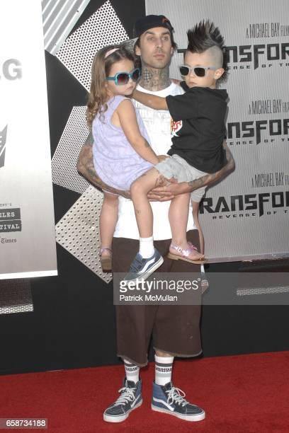 Alabama Barker Travis Barker and Landon Barker attend Transformers Revenge of the Fallen Premiere at Mann Village Theatre on June 22 2009 in Westwood...