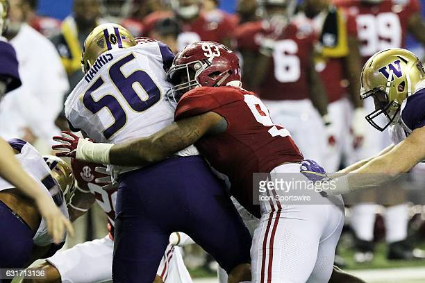 Alabama Crimson Tide defensive lineman Jonathan Allen during the College Football Playoff Semifinal at the ChickfilA Peach Bowl between the...