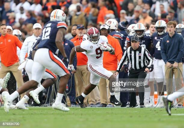 Alabama Crimson Tide running back Bo Scarbrough runs the ball during a football game between the Auburn Tigers and the Alabama Crimson Tide Saturday...