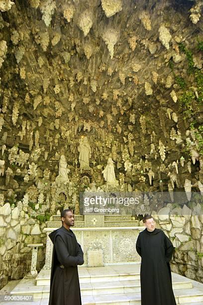 Alabama Cullman St Bernard Abbey Ave Marie Grotto Cement Stalactites Marble Altar