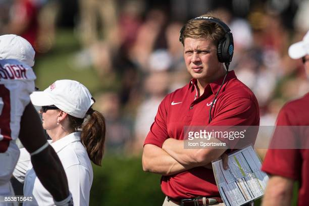 Alabama offense analyst Alex Mortensen during a college football game between the Vanderbilt Commodores and the Alabama Crimson Tide on September 23...