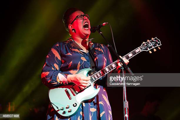 Alabama Shakes performs live for fans at the 2015 Byron Bay Bluesfest on April 3 2015 in Byron Bay Australia