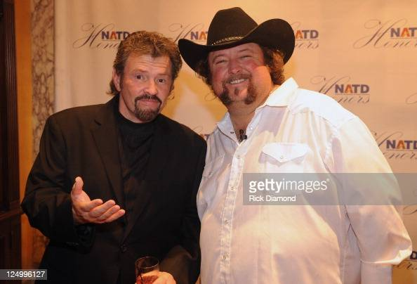 Alabama's Jeff Cook and Recording Artist Colt Ford at The Nashville Association Of Talent Directors Honors Gala at The Hermitage Hotel on September...