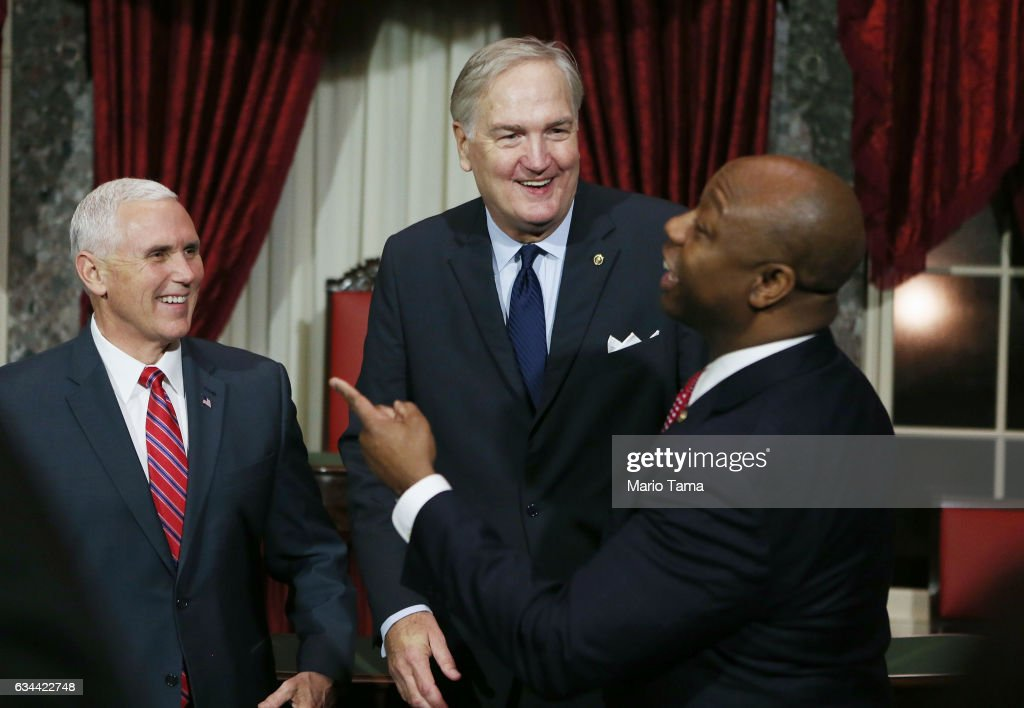 Vice President Pence Swears In New Alabama Senator Luther Strange