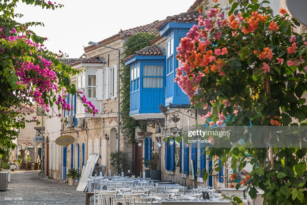 Alacati Turkey  city pictures gallery : Alacati Town In Izmir Turkey Stock Photo | Getty Images