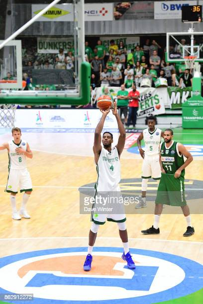 Alade Aminu of Nanterre during the Basketball Champions League match between Nanterre 92 and Sidigas Avellino on October 18 2017 in Nanterre France