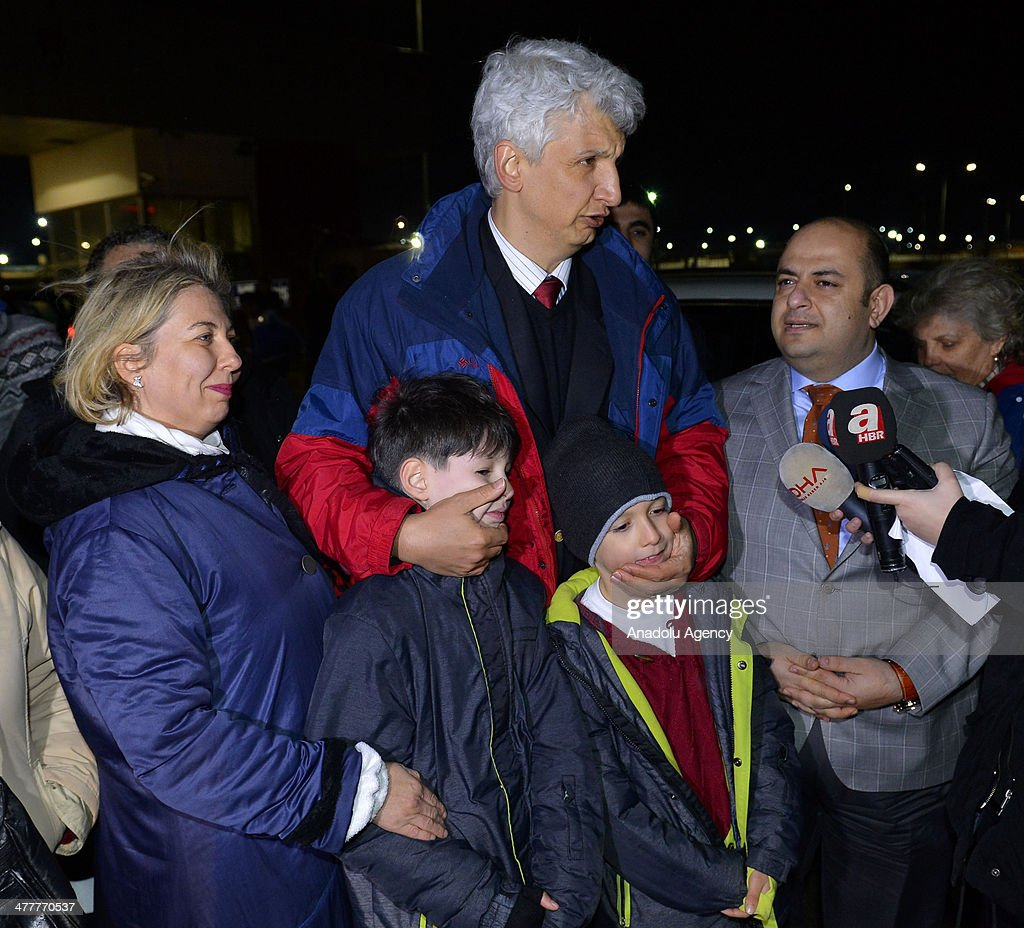 Alaettin Sevim one of the prominent detainees in the Ergenekon coup plot case released from Silivri Prison in Istanbul following the 20th Istanbul...