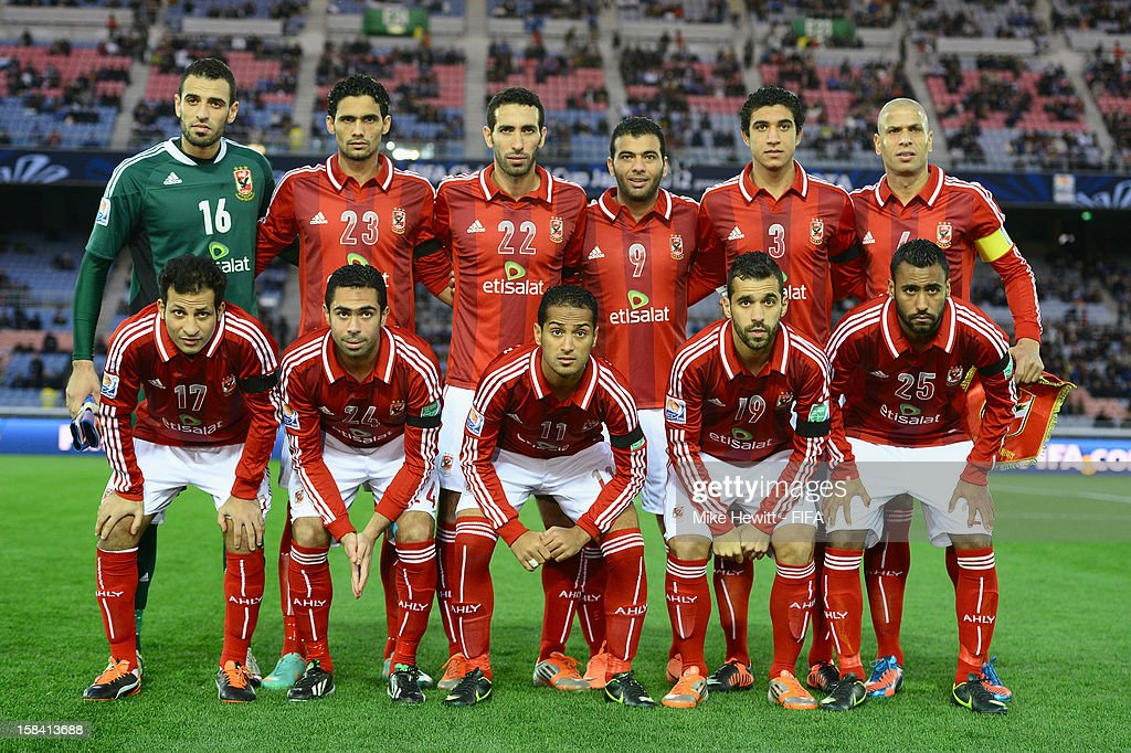 Al-Ahly pose for a team photo prior to the FIFA Club World Cup 3rd Place Match between Al-Ahly SC and CF Monterrey at International Stadium Yokohama on December 16, 2012 in Yokohama, Japan.