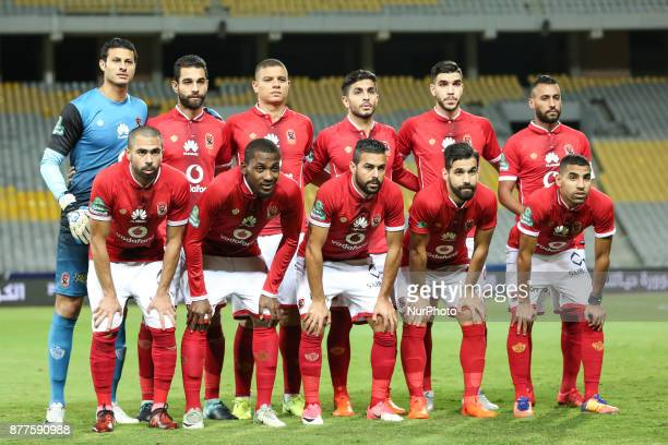 AlAhly team pose before the Egypt Premier League match between AlAhly and Ismaily at Borg AlArab Staduim in Alexandria Egypt on 20 November 2017 Al...