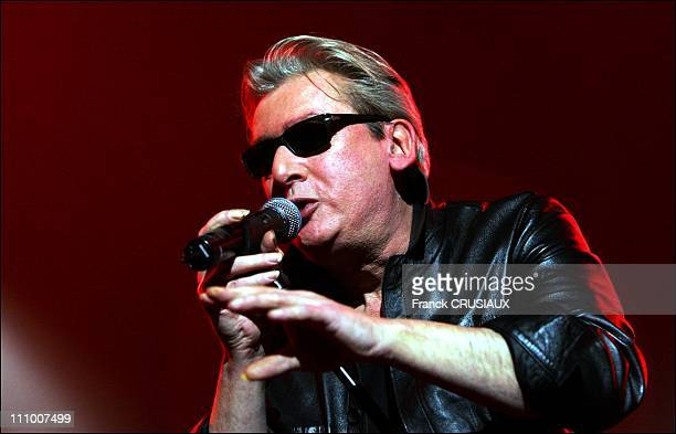 Alain Bashung at the Concert of adventurers from another world composed by Richard Kolinka JeanLouis Aubert Alain Bashung Daniel DarcCali and Raphael...
