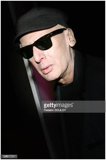 Alain Bashung Grand prize for the French song in Neuilly sur Seine France on December 09 2008