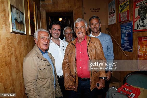 Alain Belmondo Olivier BelmondoCharles Gerard Jean Paul Belmondo and Paul Belmondo aattend the 'Concours D'Art Dramatique' at Theatre Antoine on June...