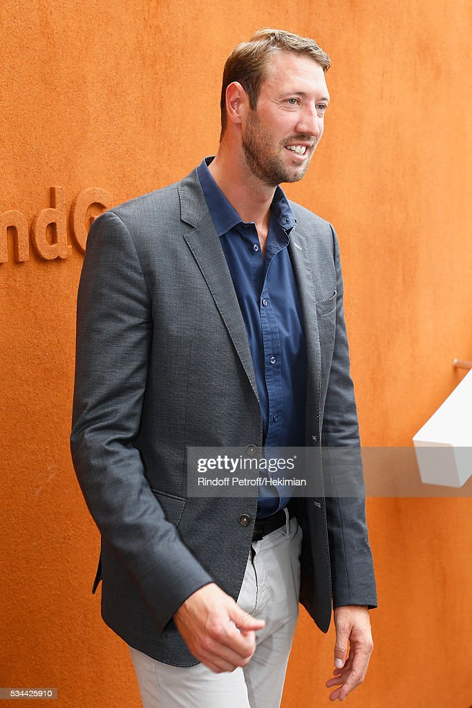 Alain Bernard attends the French Tennis Open Day Five at Roland Garros on May 26, 2016 in Paris, France.
