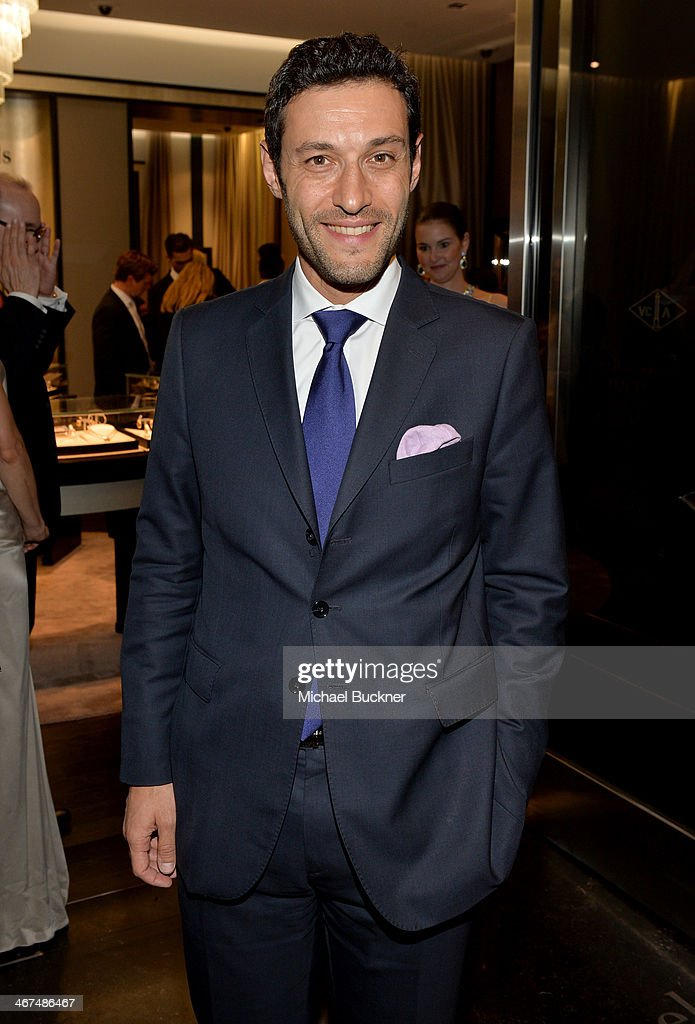 Alain Bernard, President and CEO of The Americas for Van Cleef & Arpels attends the celebration of Van Cleef & Arpels newly re-designed South Coast Plaza Boutique at Van Cleef & Arpels on February 6, 2014 in Orange County, California.