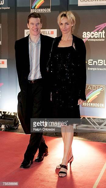 Alain Blondel and Heike Drechsler arrive at the Radio Regenbogen Award 2006 on March 9 2007 in Karlsruhe Germany
