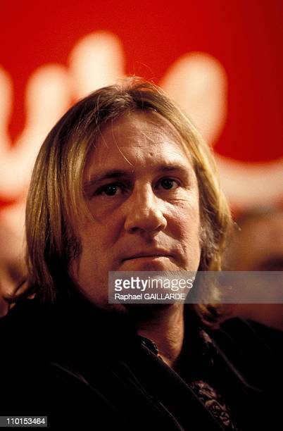 Alain Carignon at TV 'L'heure de Verite' in Paris France on November 21 1993