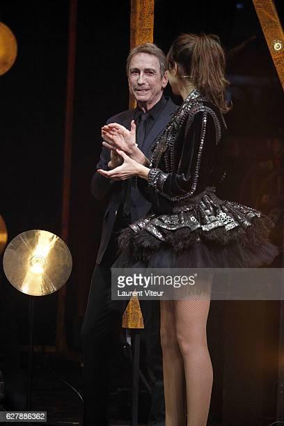 Alain Chamfort and Helala Noguerra attend 'Grand Prix de la SACEM 2016' at Folies Bergeres on December 5 2016 in Paris France