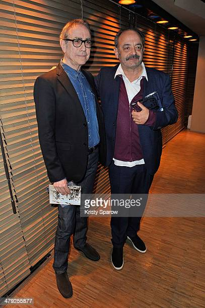 Alain Chamfort and Louis Chedid attend the Grands Prix De L'UNAC 2014 Award Ceremony at Sacem on March 17 2014 in NeuillysurSeine France