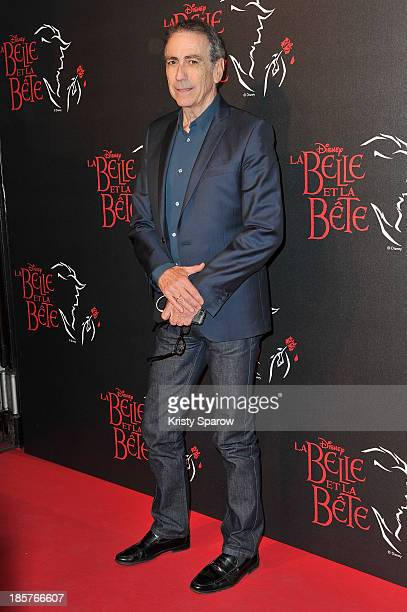 Alain Chamfort attends the 'Beauty and the Beast' Paris Premiere at Theatre Mogador on October 24 2013 in Paris France