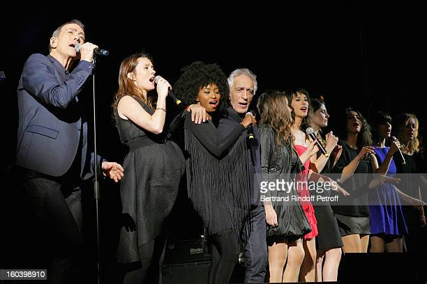 Alain Chamfort Audrey Marnay Inna Modja Gerard Darmon Marina d'Amico Lucie Elodie Frege Camelia Jordana Sarah Manesse and Fredrika Stahl perform at...