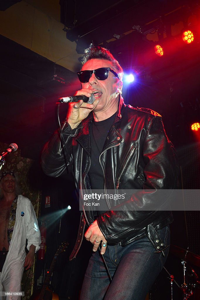 Alain Chenneviere performs during he Bus Palladium 3rd Anniversary Party at the Bus Palladium Club on April 11, 2013 in Paris, France.