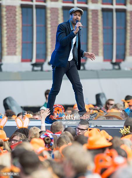 Alain Clark performs on stage at Museumplien during the inauguration of King Willem Alexander of the Netherlands as Queen Beatrix of the Netherlands...
