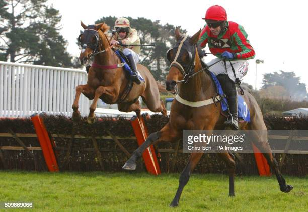 Alain Crawley on Always Bold come from behind to win the Chris Fagan 50th Birthday Celebration Handicap Hurdle at Fontwell Racecourse Chichester