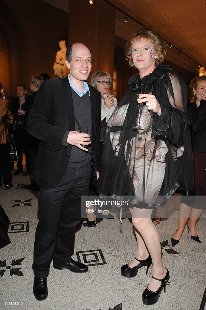 Alain de Boton and Grayson Perry during Victoria and Albert Museum's 150th Anniversary Party Inside at Victoria and Albert Museum in London Great...