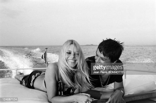 Alain Delon and Brigitte Bardot In Saint Tropez France In August 1968 Alain Delon and Brigitte Bardot