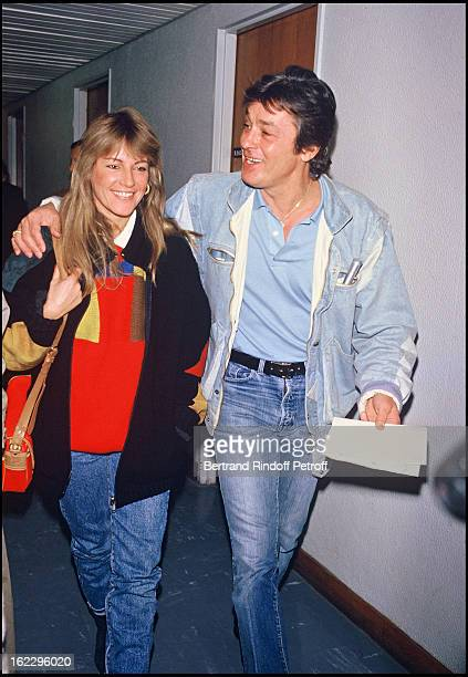 Alain Delon and his girlfriend Catherine in Tf1 Channel studios