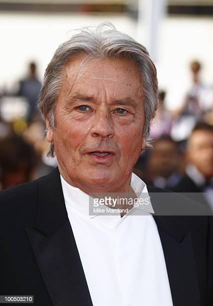 Alain Delon attends the Premiere of 'Wall Street Money Never Sleeps' held at the Palais des Festivals during the 63rd Annual International Cannes...