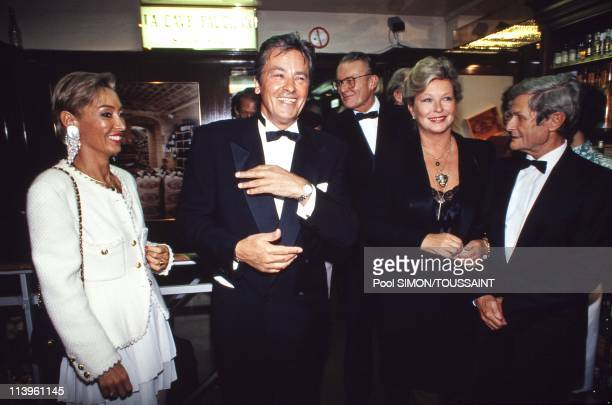 Alain Delon during his Gala Evening at Fauchon In Paris France On September 08 1990 French star Alain Delon during his gala evening at Fauchon with...