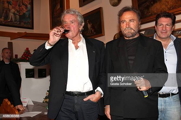 Alain Delon Franco Nero during the Opening of the Gut Aiderbichl Christmas Market on November 11 2014 in Henndorf am Wallersee Austria