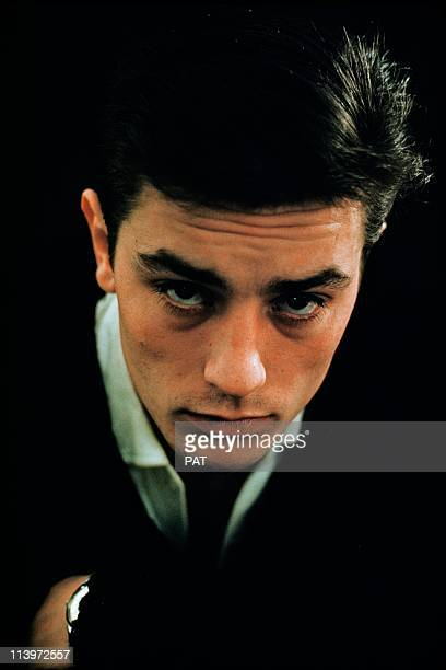 Alain Delon Portrait In France In 1963 Portrait of French actor Alain Delon 1963