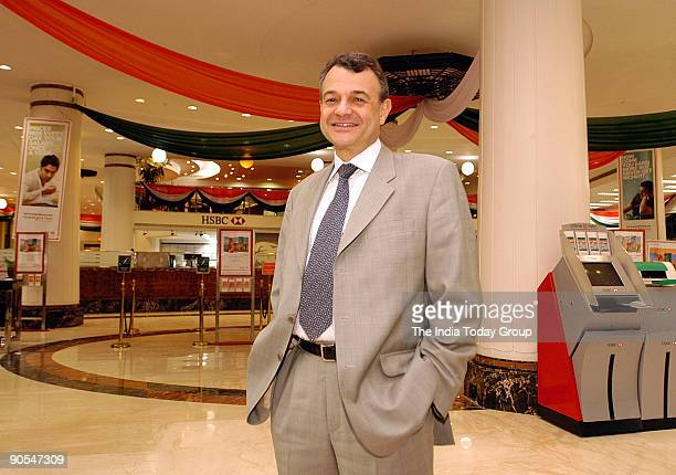 Alain Dromer CEO HSBC Group Investment Businesses poses at Bank in Mumbai India Potrait